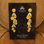 Golden Wattle Charm Drop Earrings