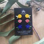 Native Florals Stud Earring Set